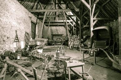 La grange, classée au Monuments Historique.