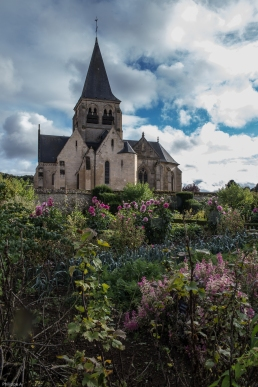 Potager avec vue sur l'église